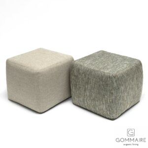 Gommaire-outdoor-fabric-furniture-square_pouf_sidetable-G387-K-Antwerp (Groot)